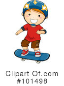 Royalty-Free (RF) Skateboarding Clipart Illustration #101498