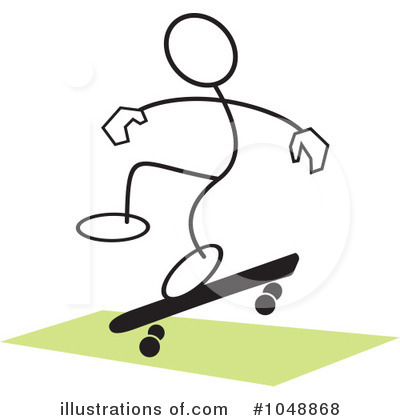 Skateboarding Clipart #1048868 by Johnny Sajem