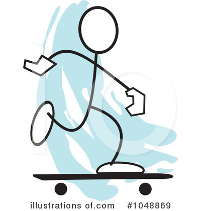 Skateboarding Clipart #1048869 by Johnny Sajem