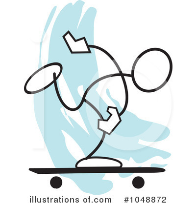 Skateboarding Clipart #1048872 by Johnny Sajem