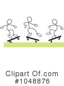 Skateboarding Clipart #1048876 by Johnny Sajem
