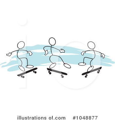 Skateboarding Clipart #1048877 by Johnny Sajem