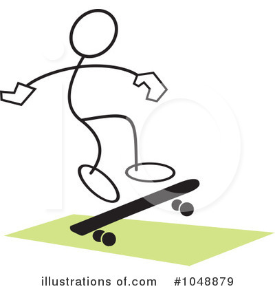 Royalty-Free (RF) Skateboarding Clipart Illustration by Johnny Sajem - Stock Sample #1048879