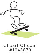 Skateboarding Clipart #1048879 by Johnny Sajem