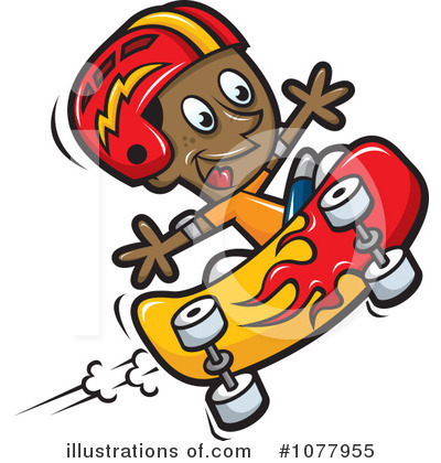 Royalty-Free (RF) Skateboarding Clipart Illustration by jtoons - Stock Sample #1077955