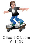 Royalty-Free (RF) Skateboarding Clipart Illustration #11456