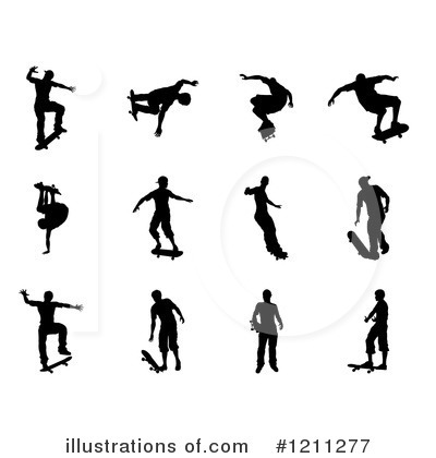 Skateboarding Clipart #1211277 by AtStockIllustration