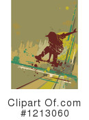 Royalty-Free (RF) Skateboarding Clipart Illustration #1213060