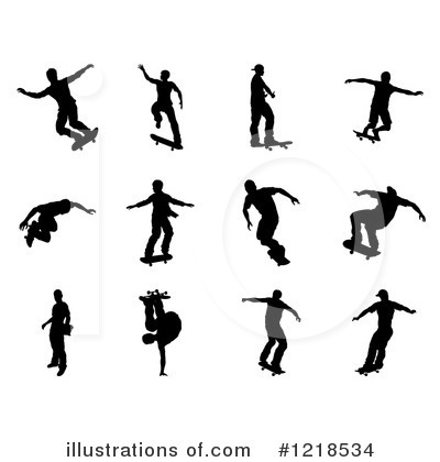 Skateboarding Clipart #1218534 by AtStockIllustration