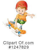 Royalty-Free (RF) Skateboarding Clipart Illustration #1247829