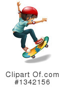 Royalty-Free (RF) Skateboarding Clipart Illustration #1342156