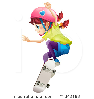 Skateboarding Clipart #1342193 by Graphics RF