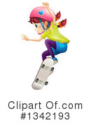 Royalty-Free (RF) Skateboarding Clipart Illustration #1342193