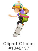 Skateboarding Clipart #1342197 by Graphics RF