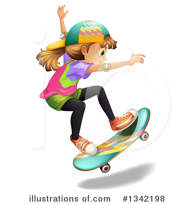 Skateboarding Clipart #1342198 by Graphics RF