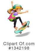 Royalty-Free (RF) Skateboarding Clipart Illustration #1342198