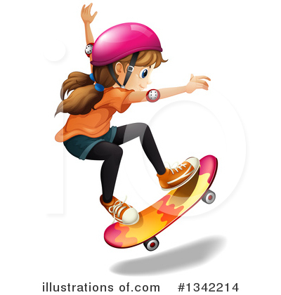 Skateboarding Clipart #1342214 by Graphics RF