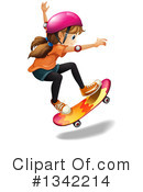 Royalty-Free (RF) Skateboarding Clipart Illustration #1342214
