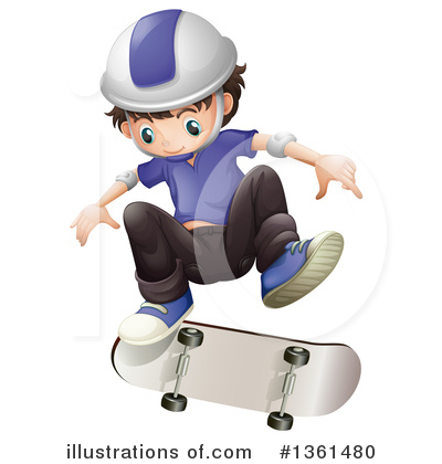 Skateboarding Clipart #1361480 by Graphics RF