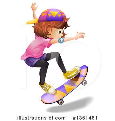 Skateboarding Clipart #1361481 by Graphics RF