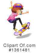 Royalty-Free (RF) Skateboarding Clipart Illustration #1361481