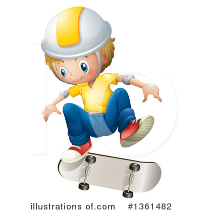 Skateboarding Clipart #1361482 by Graphics RF