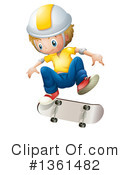 Royalty-Free (RF) Skateboarding Clipart Illustration #1361482