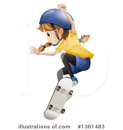 Skateboarding Clipart #1361483 by Graphics RF