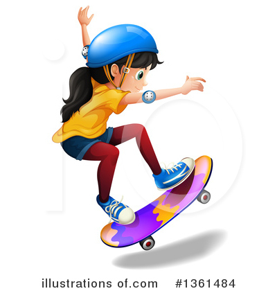 Skateboarding Clipart #1361484 by Graphics RF