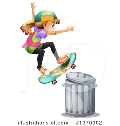 Skateboarding Clipart #1370902 by Graphics RF