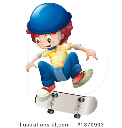 Skateboarding Clipart #1370903 by Graphics RF