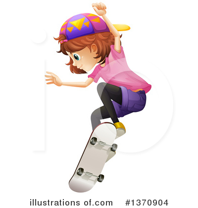 Skateboarding Clipart #1370904 by Graphics RF
