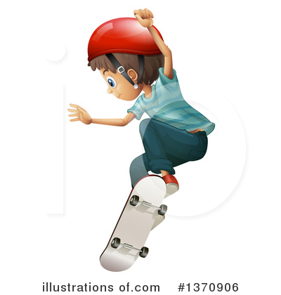 Skateboarding Clipart #1370906 by Graphics RF