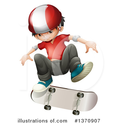 Skateboarding Clipart #1370907 by Graphics RF