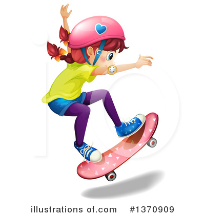 Skateboarding Clipart #1370909 by Graphics RF