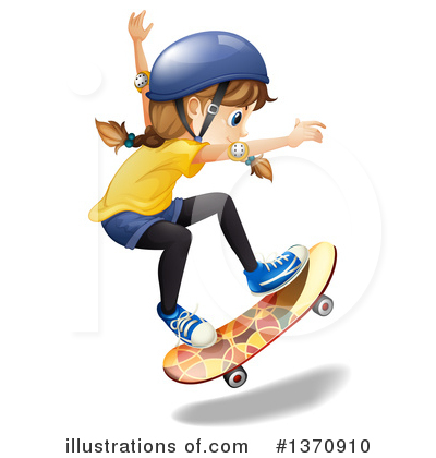Skateboarding Clipart #1370910 by Graphics RF