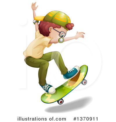 Royalty-Free (RF) Skateboarding Clipart Illustration by Graphics RF - Stock Sample #1370911