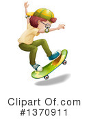 Skateboarding Clipart #1370911 by Graphics RF