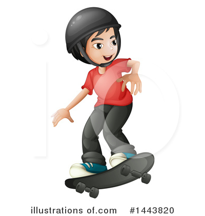 Skateboarding Clipart #1443820 by Graphics RF