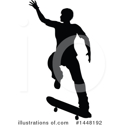 Skateboarding Clipart #1448192 by AtStockIllustration