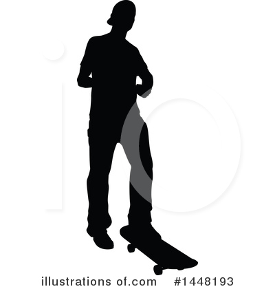 Skateboarding Clipart #1448193 by AtStockIllustration