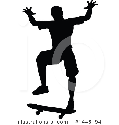 Skateboarding Clipart #1448194 by AtStockIllustration