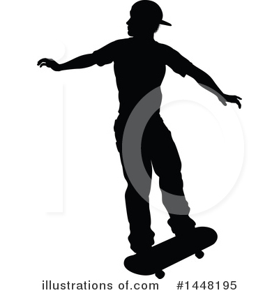 Skateboarding Clipart #1448195 by AtStockIllustration