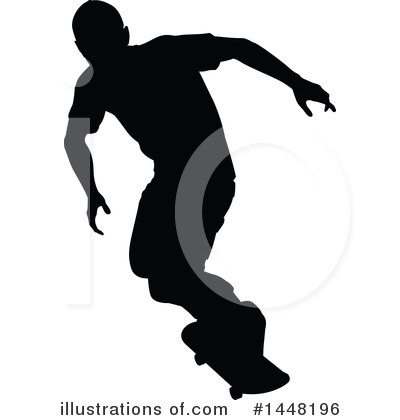Skateboarding Clipart #1448196 by AtStockIllustration