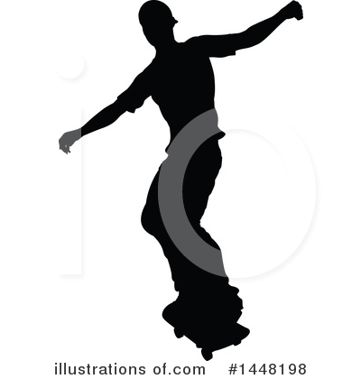 Skateboarding Clipart #1448198 by AtStockIllustration