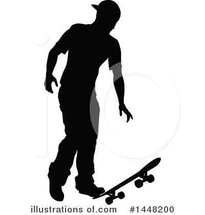 Skateboarding Clipart #1448200 by AtStockIllustration