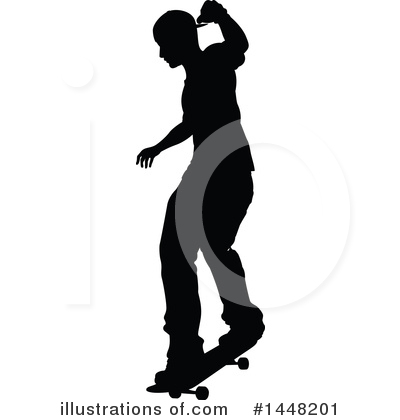 Skateboarding Clipart #1448201 by AtStockIllustration