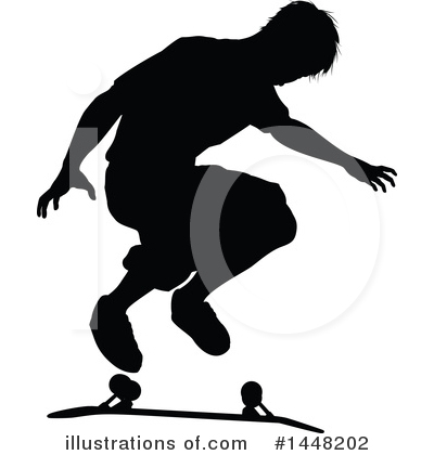 Skateboarding Clipart #1448202 by AtStockIllustration