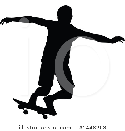 Skateboarding Clipart #1448203 by AtStockIllustration
