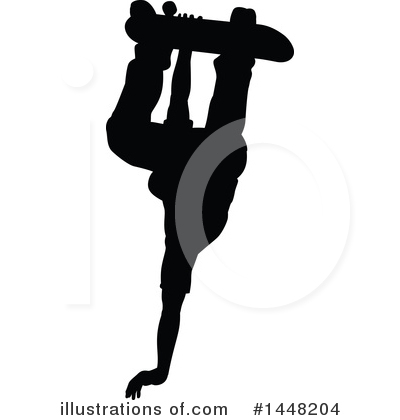 Skateboarding Clipart #1448204 by AtStockIllustration